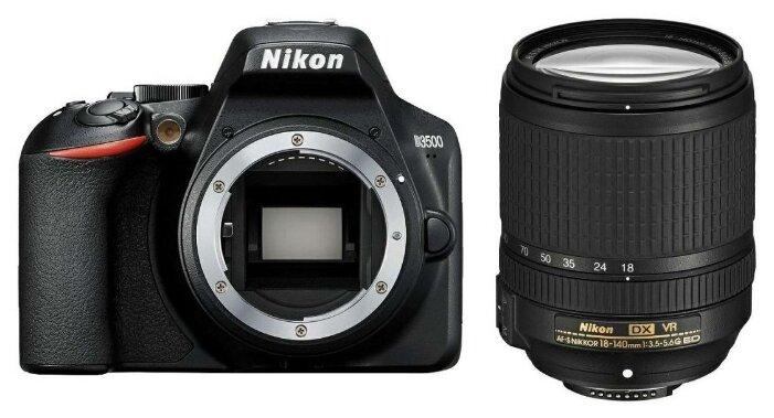 Фотоаппарат Nikon D3500 Kit черный AF-S DX NIKKOR 18-140mm f/3.5-5.6G ED VR фото 1