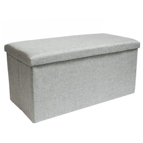 Пуфик с ящиком для хранения Удачная покупка RYP57-76 серый пуфик с ящиком для хранения удачная покупка ryp56 38 искусственная кожа черный