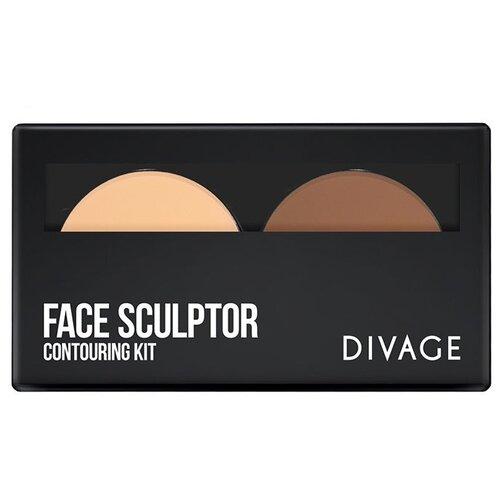 DIVAGE Палетка для стробинга Face Sculptor divage палетка блесков для губ all in one 01 divage помада