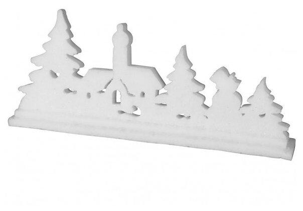 Koopman International, Светящаяся миниатюра рождественский вечер с LED-огнями, 62 см, батарейки DH9670100-церковь
