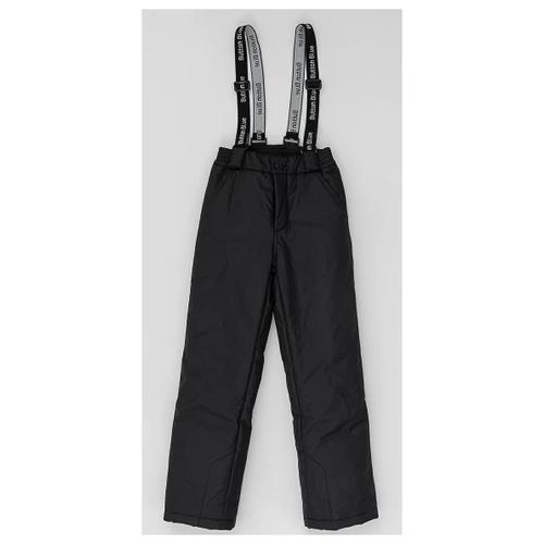 Купить Брюки Button Blue размер 140, черный, Полукомбинезоны и брюки