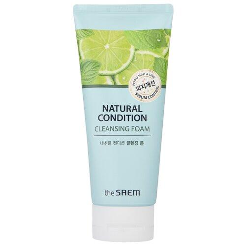 Купить The Saem пенка для умывания и контроля жирности кожи лица с мятой и лаймом Natural Condition Cleansing Foam Sebum Control, 150 мл