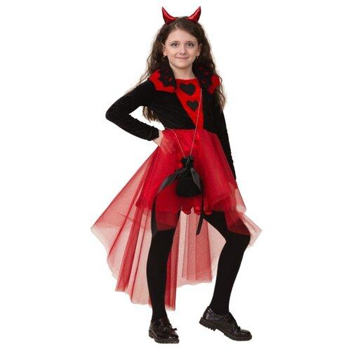 Купить Костюм Батик Дьяволица (6072), черный/красный, размер 146, Карнавальные костюмы