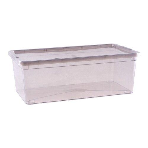 Фото - ПОЛИМЕРБЫТ Коробка для хранения Mystery 5,5л, 34х19х12 прозрачный коробка рыжий кот 33х20х13см 8 5л д хранения обуви пластик с крышкой