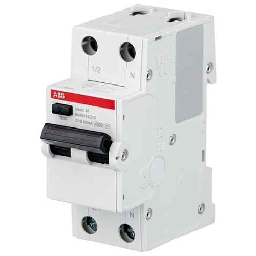 Дифференциальный автомат ABB BMR415 2П 30 мА C 10 А автомат abb 2cds213001r0204
