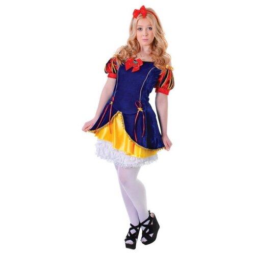 Костюм Bristol Novelty Белоснежка (ПБ349), синий/красный/желтый, размер 164-170 платье oodji ultra цвет красный белый 14001071 13 46148 4512s размер xs 42 170