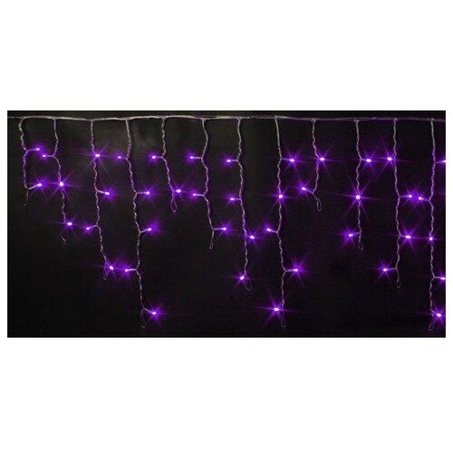 Гирлянда Rich LED Бахрома RL-i3*0.5-T, 300 х 50 см, 112 ламп, фиолетовые диоды/прозрачный провод