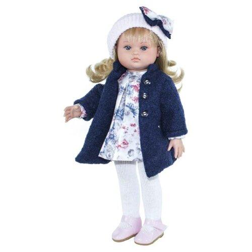 Кукла Lamagik Нэни в синем пальто и белой шапке, 42 см, 42015