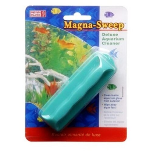Скребок для аквариума Penn-Plax MAGNA-SWEEP большой голубой penn plax переноска клетка penn plax для грызунов и птиц большая