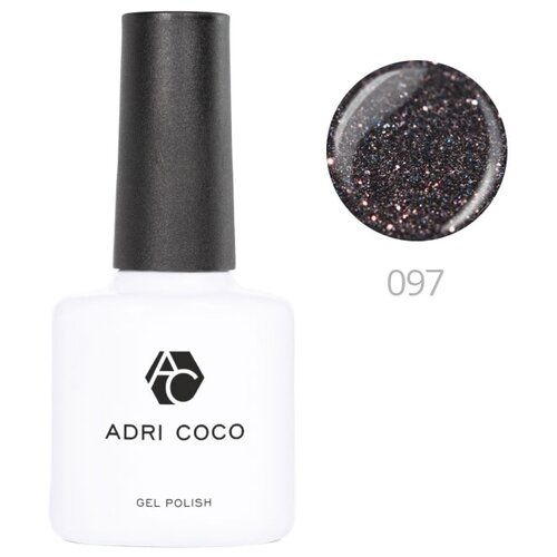 Купить Гель-лак для ногтей ADRICOCO Gel Polish, 8 мл, 097 мерцающий темно-серый