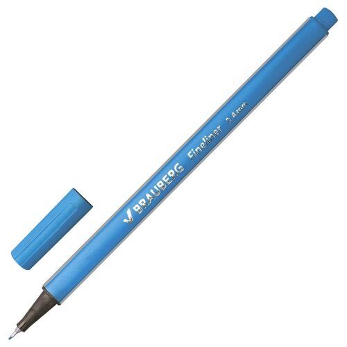 BRAUBERG Ручка капиллярная Aero (1422), голубой цвет чернил ручка гелевая brauberg jet синий