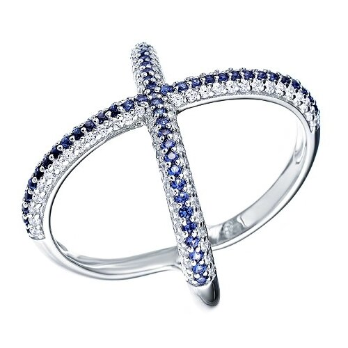 Фото - JV Серебряное кольцо с кубическим цирконием DM1272R-KO-001-WG, размер 18 jv серебряное кольцо с кубическим цирконием dm0026r ko 001 wg размер 18
