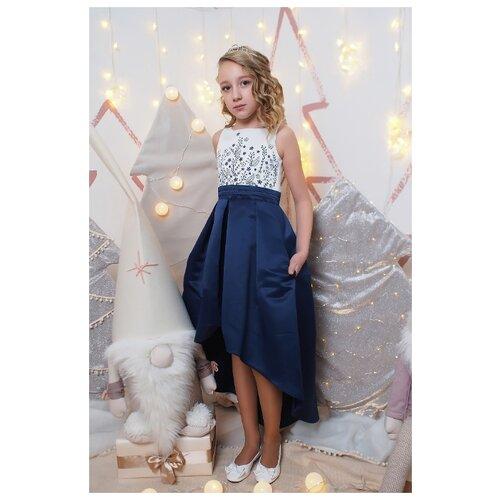 Платье Ladetto размер 32-134, темно-синий, Платья и сарафаны  - купить со скидкой