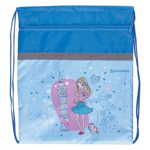 brauberg сумка для обуви flamingo 229174 синий BRAUBERG Сумка для обуви London (229175) бирюзовый