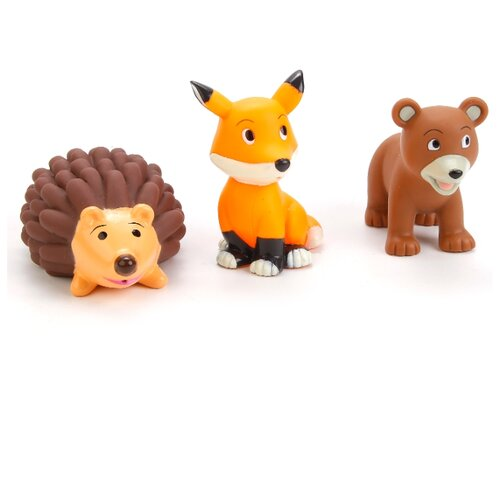 Купить Набор для ванной Играем вместе Лиса, Миша, Еж (LXB49_523_525) коричневый/оранжевый, Игрушки для ванной