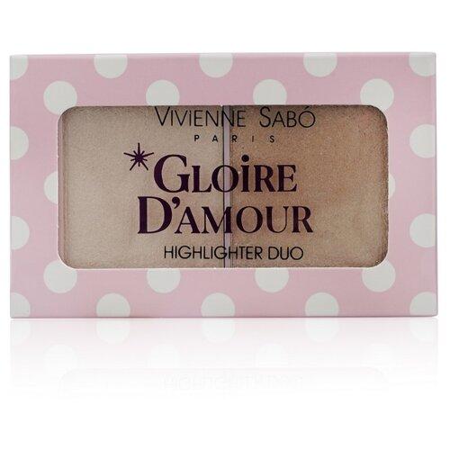 Купить Vivienne Sabo Палетка хайлайтеров Gloire d'amour 01, светло-розовый