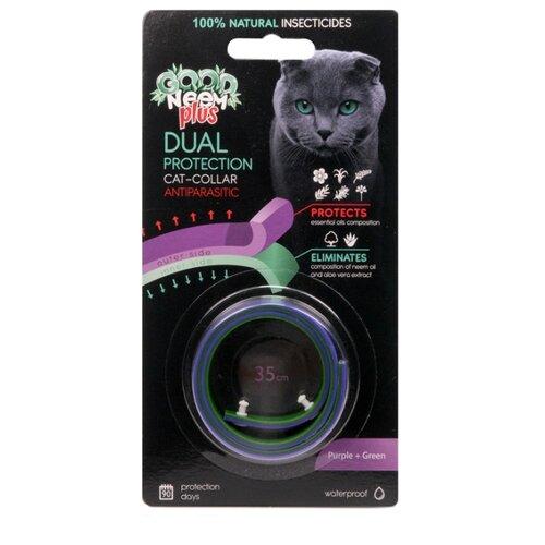 GOOD NEEM ошейник от блох и клещей Plus двухслойный для кошек и котят, 35 см, голубой