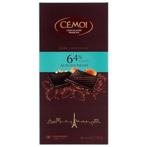 шоколад вдохновение горький с миндалем 75% 100 г Шоколад Cemoi Горький 64% какао с миндалем, 100 г