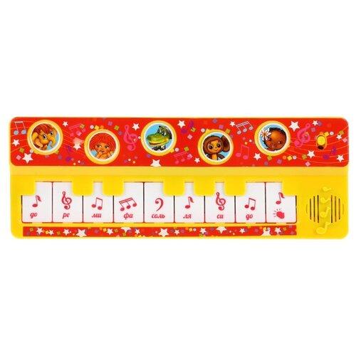 Купить Умка пианино B1517258-R10 красный/желтый, Детские музыкальные инструменты