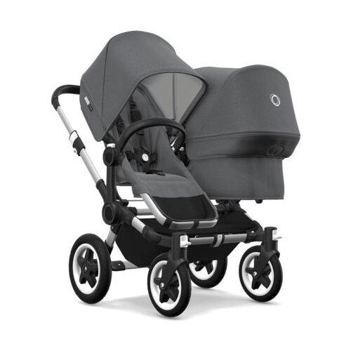 Универсальная коляска Bugaboo Donkey 2 Duo (2 в 1) Alu/Grey melange/Grey melange, цвет шасси: серебристый
