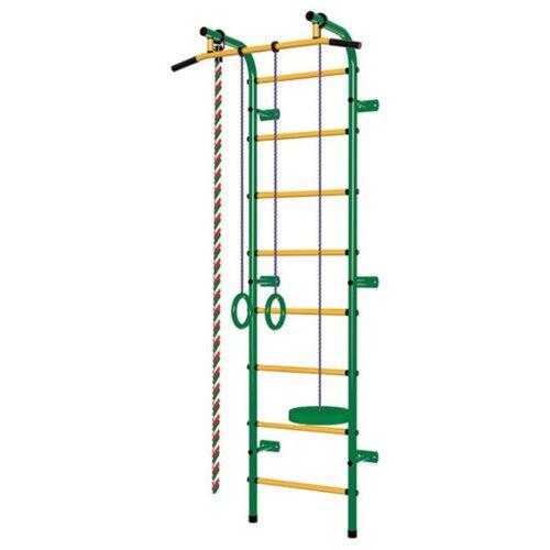 Купить Шведская стенка Пионер С1Р зеленый/желтый, Игровые и спортивные комплексы и горки
