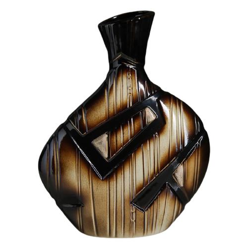 Ваза Керамика ручной работы Аманда (787993), коричневый ваза керамика ручной работы кегля 4341586 коричневый