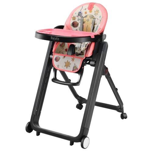 Купить Стульчик для кормления Nuovita Futuro Senso Nero (Cosmo rosa/Розовый космос), Стульчики для кормления