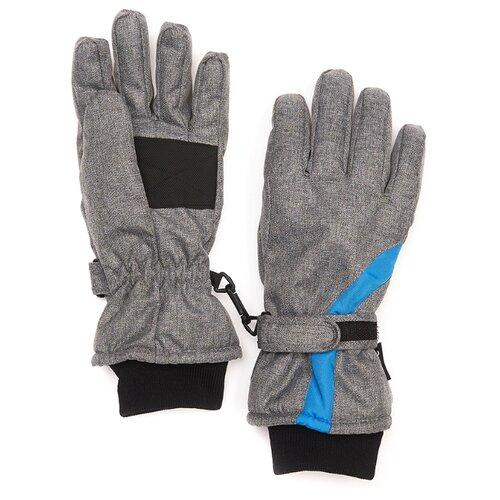 Перчатки Oldos размер 9-10, серый меланж/синий варежки oldos размер 9 10 серый меланж