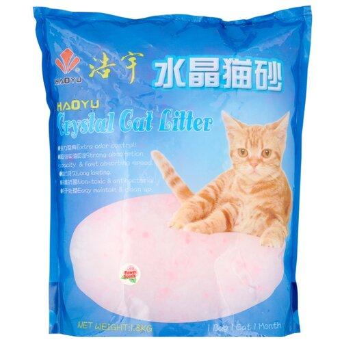 Впитывающий наполнитель Haoyu Силикагелевый Цветочный 3.8 л впитывающий наполнитель glamour cats силикагелевый антибактериальный 3 8 л 1 7 кг