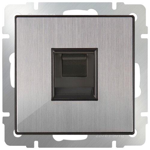 Фото - Розетка для интернета / телефона Werkel WL02-RJ-45, серый розетка для интернета телефона werkel wl01 rj 11 белый