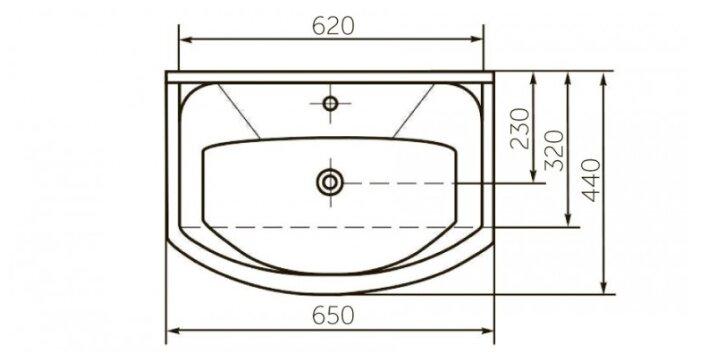 Раковина 65.5 см ROSA Элеганс 650
