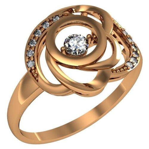 Фото - Приволжский Ювелир Кольцо с 13 фианитами из серебра с позолотой 272150-FA11, размер 19 приволжский ювелир кольцо с 65 фианитами из серебра с позолотой 252119 fa11 размер 19 5