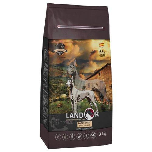 Сухой корм для собак Landor (3 кг) Adult Large Breed Dog с мясом ягненка 3 кг (для крупных пород) сухой корм для собак landor 3 кг adult lamb with rice с мясом ягненка 3 кг