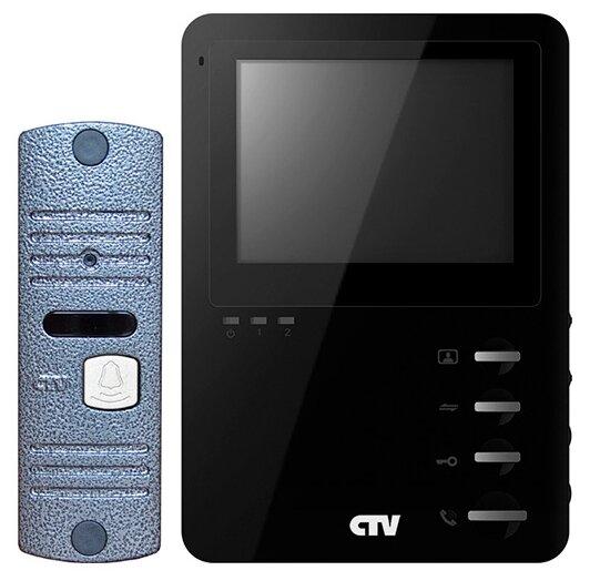 Комплектная дверная станция (домофон) CTV-DP1400M синий (дверная станция) черный (домофон)