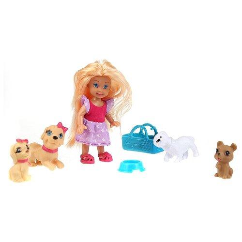 Купить Кукла Карапуз Машенька с питомцами, 12 см, MARY023X-RU, Куклы и пупсы