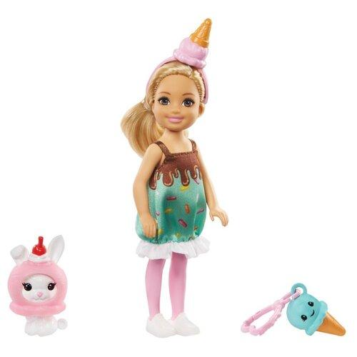 Купить Кукла Barbie Челси с питомцем Мороженое, 14 см, GHV72, Куклы и пупсы