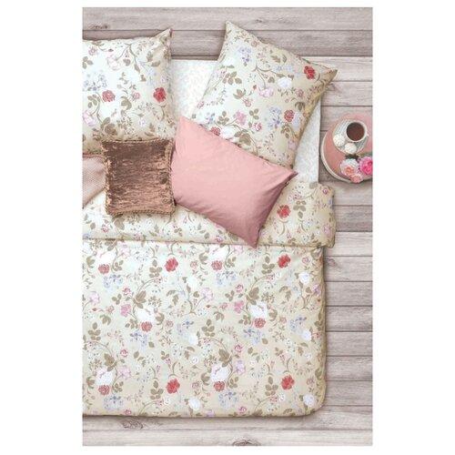 Постельное белье 2-спальное Sova & Javoronok Флора 70х70 см, бязь розовый