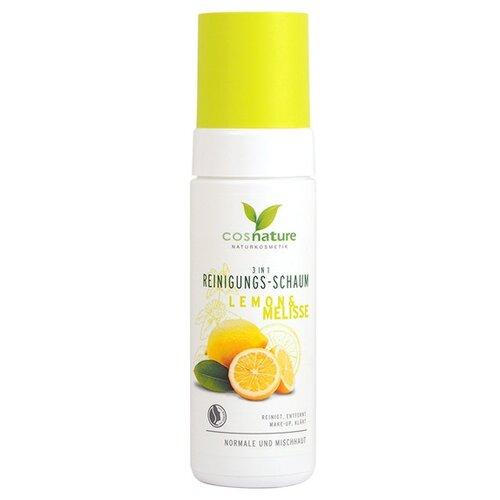 Cosnature очищающая пенка для лица 3в1 Лимон и мелисса, 150 мл пенка для лица attitude blooming belly 150 мл