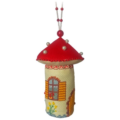 ZENGANA Набор для вышивания бисером и нитками Домик-мухомор 8 х 8 х 13 см (М-046)