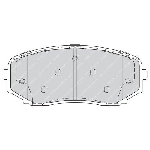Фото - Дисковые тормозные колодки передние Ferodo FDB4365 для Ford Edge, Mazda CX-7, Mazda CX-9 (4 шт.) дисковые тормозные колодки передние ferodo fdb4446 для mazda 3 mazda cx 3 4 шт