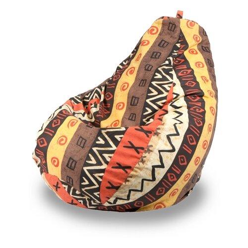 Набор чехлов Пуффбери для кресла-мешка Груша XL, Африкан, 2 шт. набор чехлов первый мебельный набор чехлов стамбул диван 2 кресла с юбкой