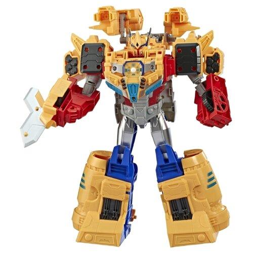 Купить Трансформер Hasbro Transformers Оптимус Прайм. Сила ковчега (Кибервселенная) E4218 синий/красный/желтый, Роботы и трансформеры