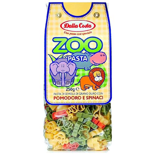 Dalla Costa Макароны Zoo фигурные томаты и шпинат, 250 г