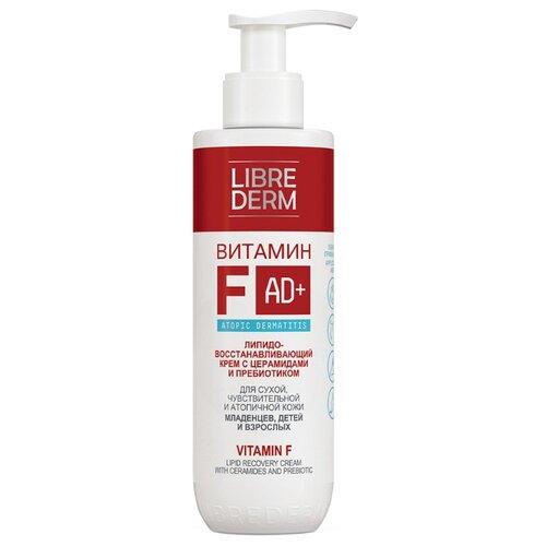 Купить Крем для тела Librederm Витамин F липидовосстанавливающий с церамидами и пребиотиком, 200 мл