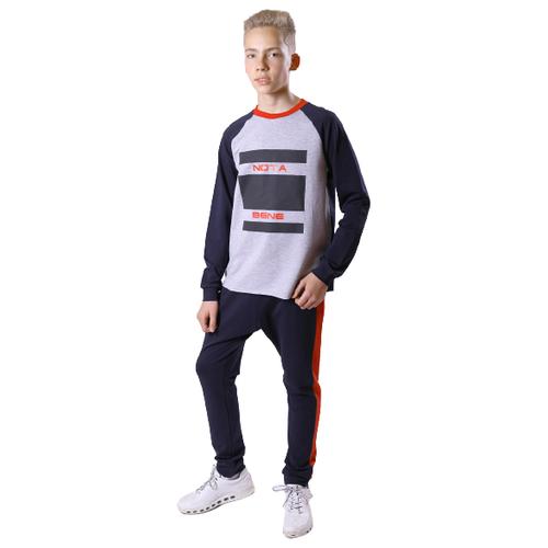 Спортивный костюм Nota Bene размер 140, серый/синий
