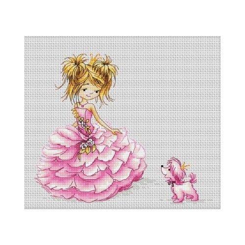 Купить Luca-S Набор для вышивания Принцесса, 16 х 13.5 см, B1056, Наборы для вышивания