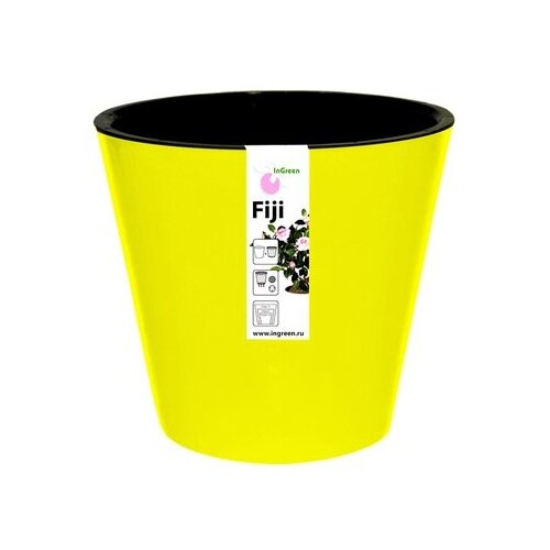 кашпо form plastic фиолек цвет желтый диаметр 12 5 см Кашпо InGreen Фиджи ING1555, 5 л, 23х20.8 см желтый