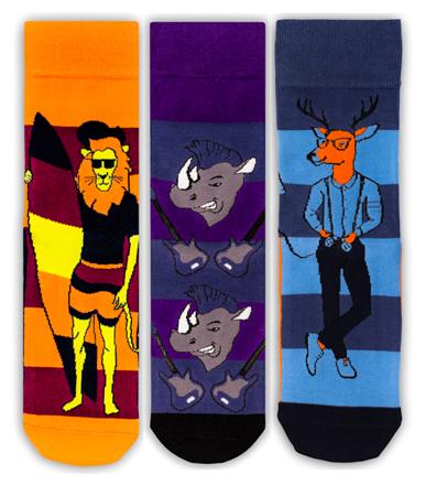 Носки Праздничный комплект, набор из 3 пар Tatem socks