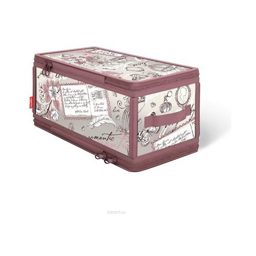 цена на Valiant Кофр для хранения с застёжкой-молнией Romantic RM-ZIP-S розовый/белый