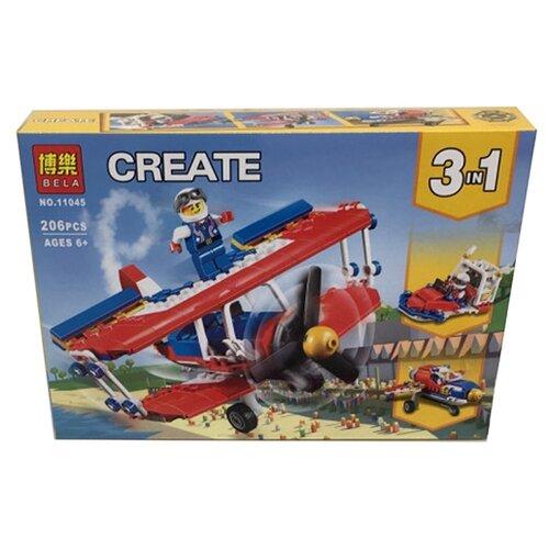 цена на Конструктор BELA (Lari) Create 11045 Самолёт для крутых трюков